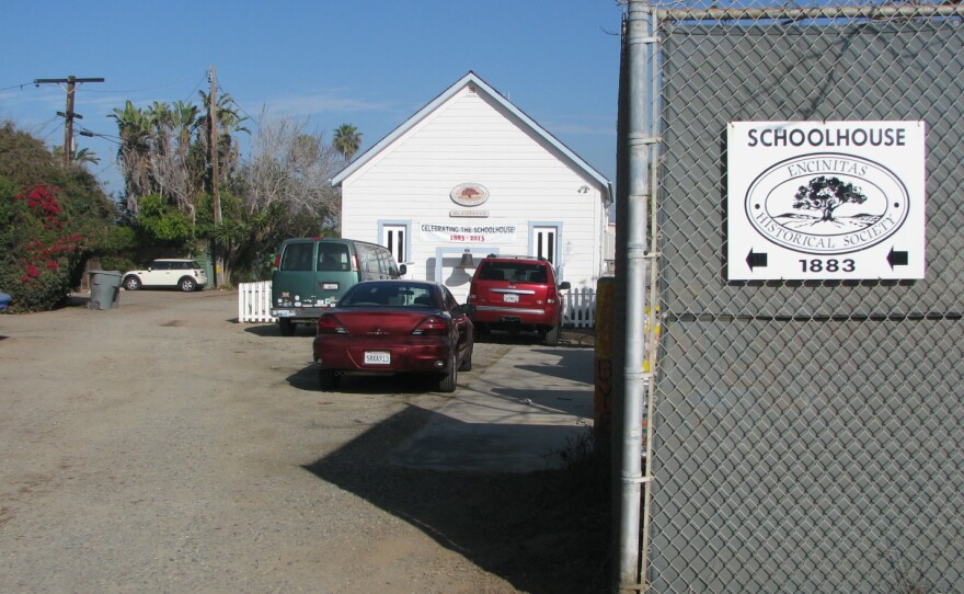 Historic Schoolhouse on the site of Pacific View Elementary in Encinitas, 2014