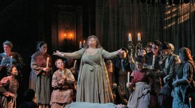 """Stephanie Blythe as Madame Arvidson in San Diego Opera's 2014 production of """"A Masked Ball"""""""