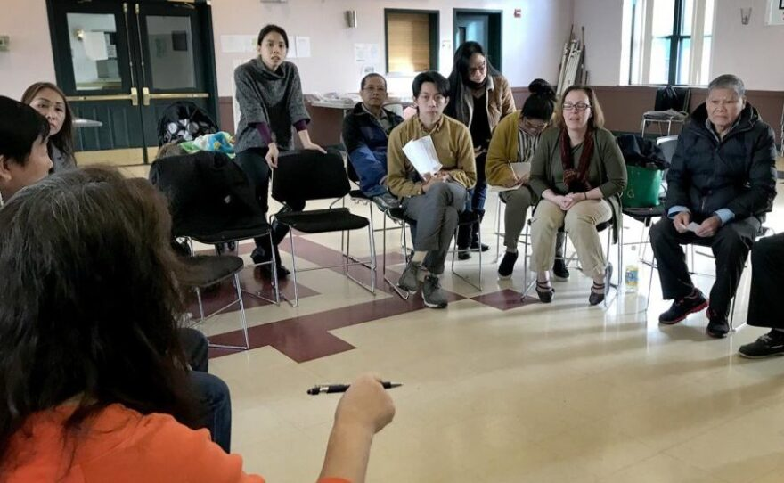 At a public forum at VietAID in Dorchester, Mass., Vietnamese immigrants learn more about changes to immigration policies under President Trump.