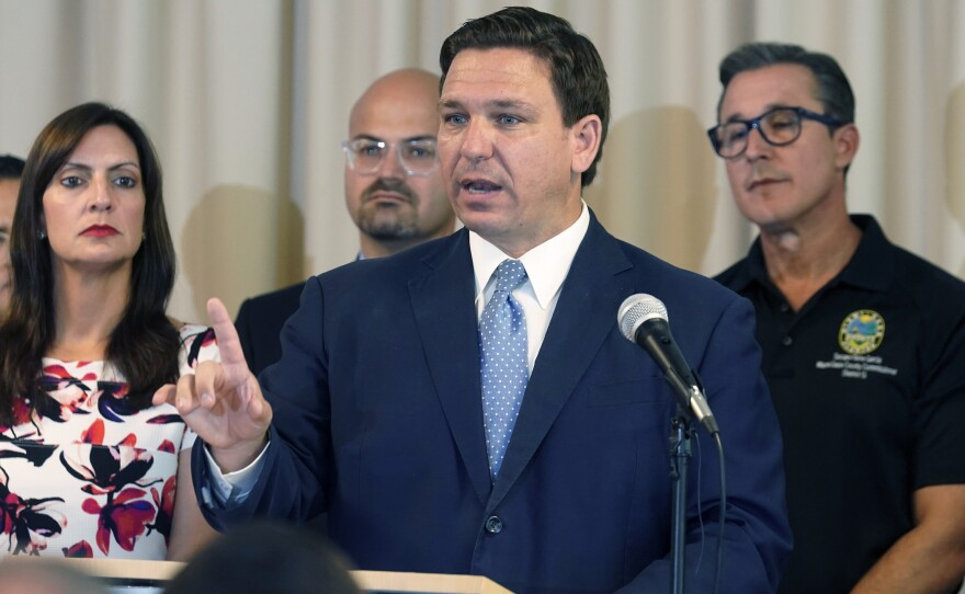 """Florida's new """"anti-riot"""" law championed by Republican Gov. Ron DeSantis as a way to quell violent protests is unconstitutional and cannot be enforced, a federal judge ruled Thursday."""