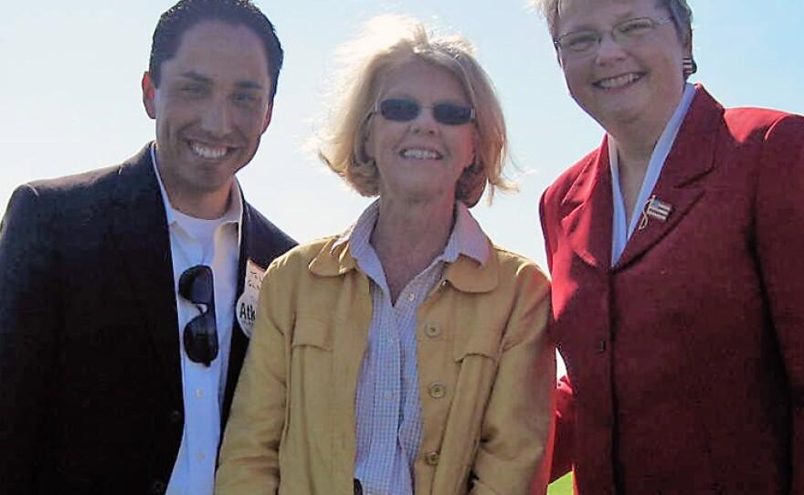 Kehoe with San Diego City Council representative, Todd Gloria, and former Senator Dede Alpert.