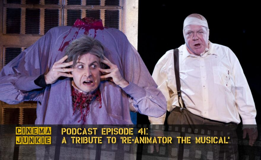 """Dr. Hill (Jesse Merlin) doesn't let decapitation slow him down in """"Re-Animator The Musical."""""""