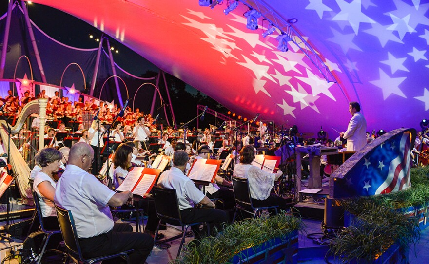 """Maestro Jack Everly leads the National Symphony Orchestra (NSO) for """"A Capitol Fourth."""" (undated photo)"""