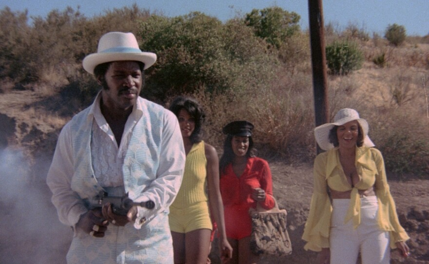 """Rudy Ray Moore in """"Dolemite"""" (1975). His life and the making of that film are now the subject of the new film """"Dolemite is My Name"""" starring Eddie Murphy as Moore."""