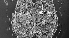 "Detail of Neil Kendricks' ""Wallpaper Ghosts"""