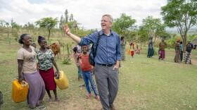 Host Rick Steves with locals, Hawassa, Ethiopia