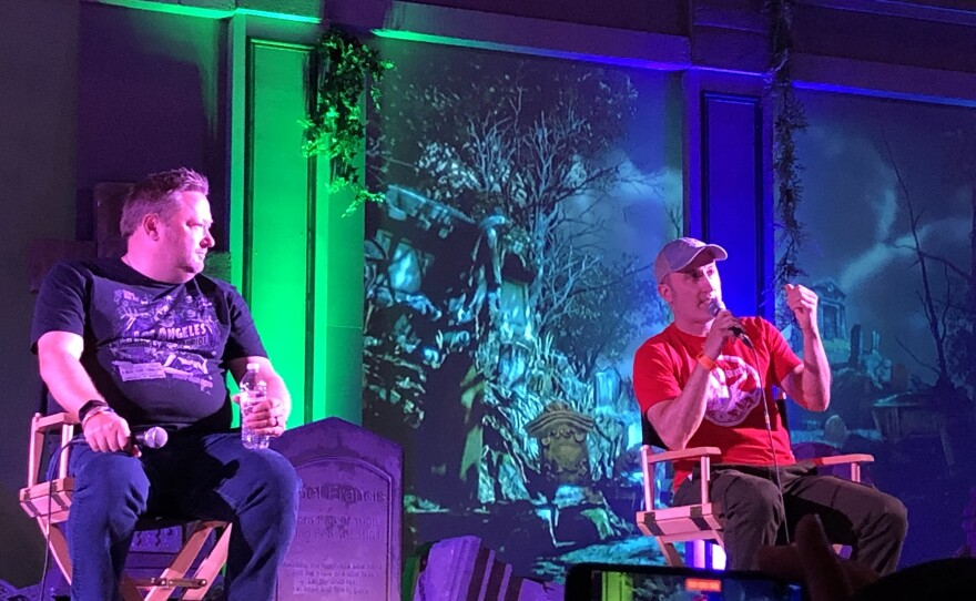 Jon Braver (on right) took part in a Midsummer Scream panel over the weekend. Aug. 14, 2021.
