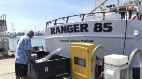 """H & M Landing owner Frank Ursitti's sportfishing boat """"Ranger 85"""" in Point Loma, July 31, 2018."""