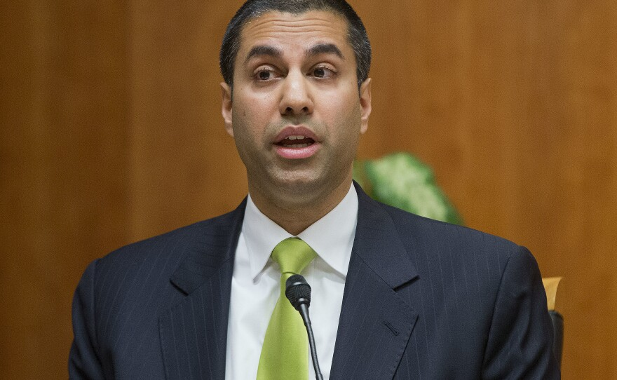 Federal Communications Commission Chairman Ajit Pai during a hearing on net neutrality on Feb. 26, 2015.