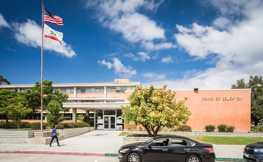 The San Diego Unified School District Board of Education building is shown in this photo, Sept. 15, 2017.