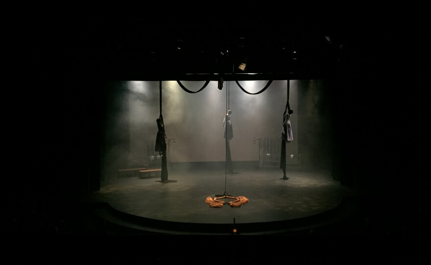 """Astraeus Aerial Dance Theatre won Outstanding World Premiere for the second year in a row, this time for """"Echoes of Gallows Hill."""""""