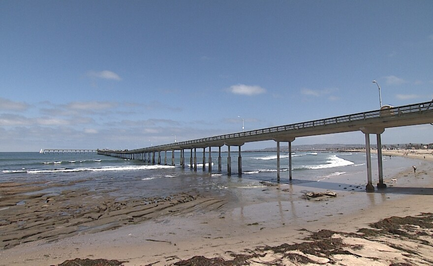 The Ocean Beach Pier is shown on May 7, 2021.
