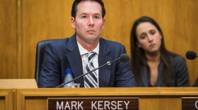 San Diego City Councilman Mark Kersey sits at the dais, Dec. 12, 2016.