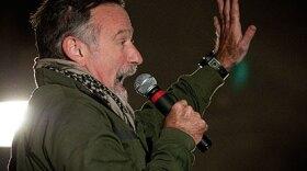 Robin Williams on USO Tour, Dec. 15, 2010.