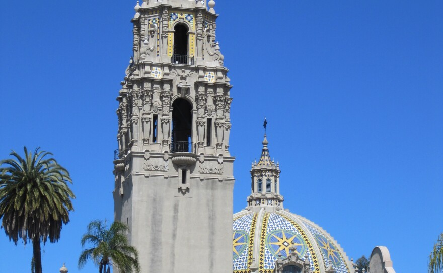The California Tower and dome at Balboa Park's Museum of Man. The tower is opening to the public for the first time in 80 years.