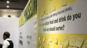 Comic-Con Museum staff ask Comic-Con attendees for their ideas on what food and drink the museum should offer, July 20, 2018.