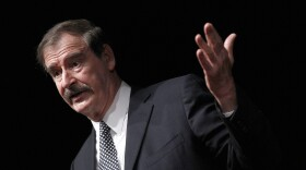Former Mexican President Mexico Vicente Fox speaks at the CATO Institute in Washington, Oct. 18, 2018.