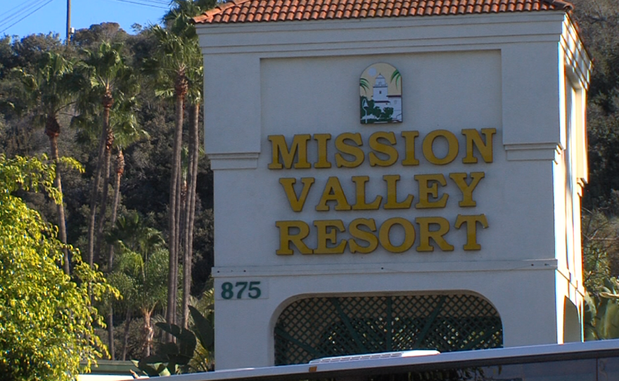 The Morris Cerullo Legacy International Center would replace the Mission Valley Resort hotel, seen here on Jan. 25, 2016.