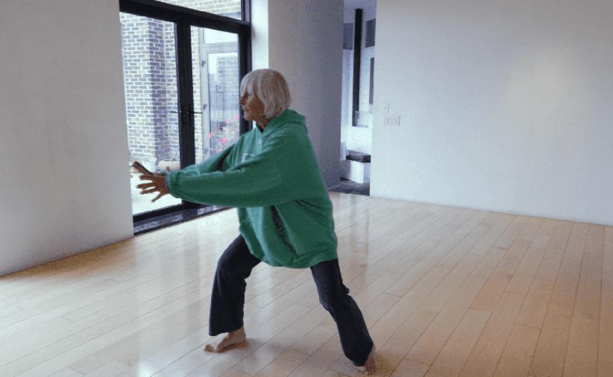 Twyla Tharp dancing.