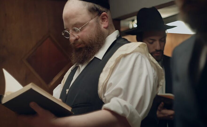 """Menashe Lustig plays the title character of a recently widowed man trying to keep custody of his son in """"Menashe."""""""