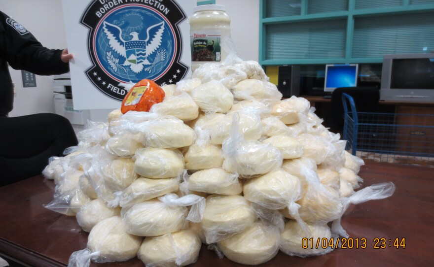 The 230 pounds of cheese uncovered by the CBP