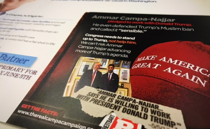 Mailer sent to residents who live in California's 50th congressional district paid for by Josh Butner for Congress May 28,2018