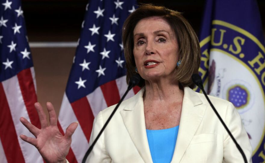 Speaker of the House Rep. Nancy Pelosi, D-Calif., pictured on July 1, has rejected two of the five members nominated by Minority Leader Kevin McCarthy to serve on the Jan. 6 select committee to investigate the Capitol riot.