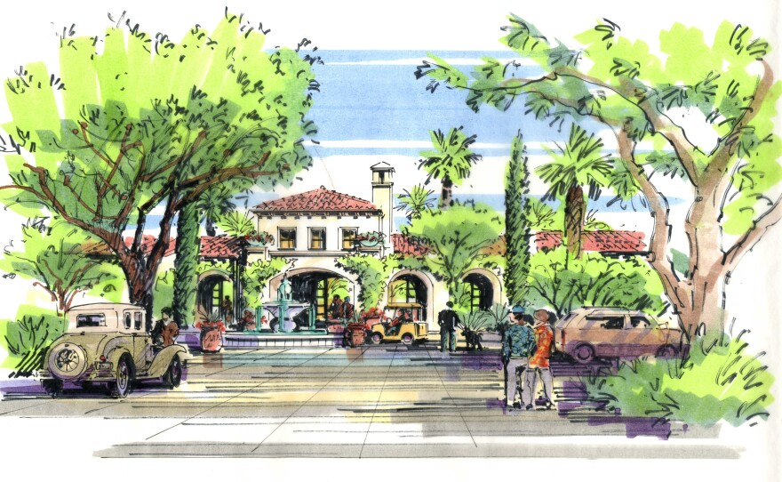 Developer New Urban West's graphic on an invitation to an open house at the now closed Escondido Country Club, July 11, 2016.