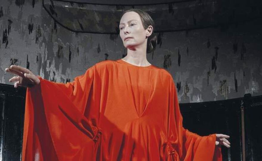 "Tilda Swinton excels as Madame Blanc in the remake of ""Suspiria."""