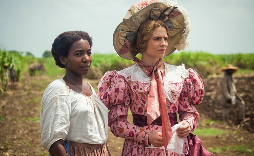 July (TAMARA LAWRANCE) and Caroline (HAYLEY ATWELL) star in THE LONG SONG On MASTERPIECE.