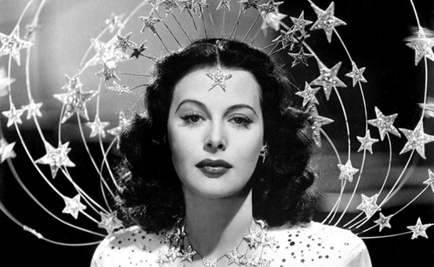 """Hedy Lamarr in crown on stars in film """"Ziegfeld Girl,"""" 1941."""