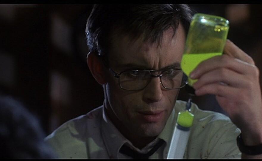 """Jeffrey Combs as Herbert West in the 1985 film """"Re-Animator."""""""