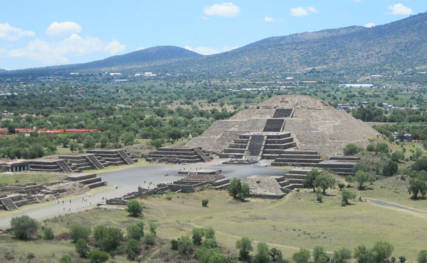 """This undated photo shows Teotihuacan's massive """"Moon Pyramid."""""""