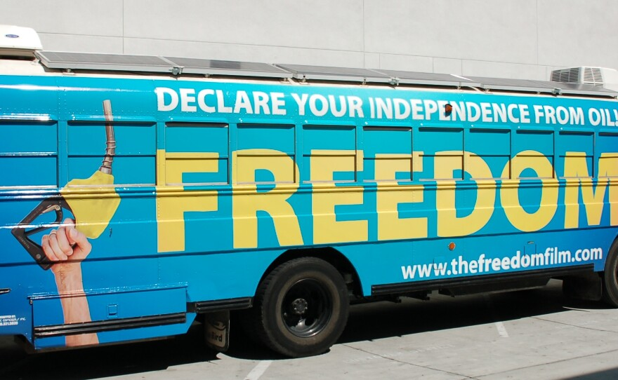 The Freedom Bus, powered by sustainable energy, is touring the country to increase awareness about alternative fuels.