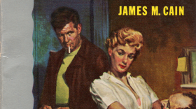 """The pulpy cover for James M. Cain's hard-boiled novel, """"The Postman Always Rings Twice."""""""