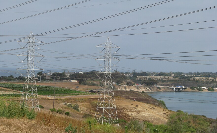The site of a new outdoor mall proposed by Caruso Affiliated on the south side of the Agua Hedionda Lagoon in Carlsbad, May 12, 2015.