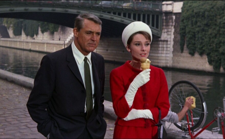 """Cary Grant and Audrey Hepburn star in the comedy-thriller """"Charade"""" from director Stanley Donen."""