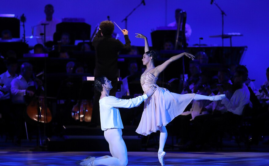 """""""Swan Lake"""" with American Ballet Theatre principal dancer Misty Copeland (right) is featured IN CONCERT AT THE HOLLYWOOD BOWL """"Gustavo and Friends."""""""