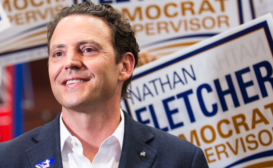 Former state Assemblyman Nathan Fletcher is shown here after the primary election on June 5, 2018.