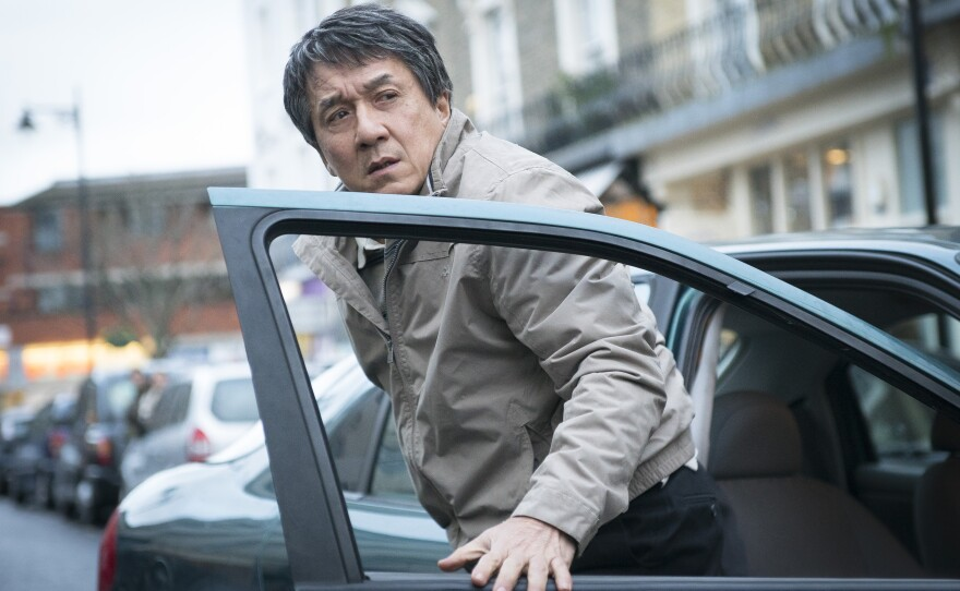 """A still of Jackie Chan in the movie """"The Foreigner."""""""