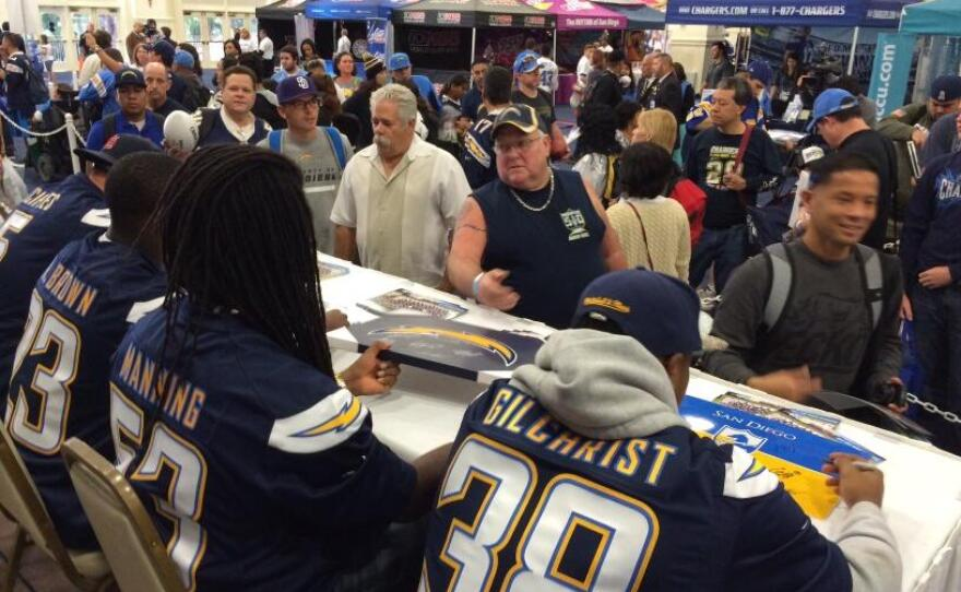 The San Diego Blood Bank expects 2,500 people to attend this year's Chargers blood drive, which will run from 10 a.m. to 6 p.m.