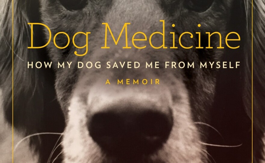 """The book cover of """"Dog Medicine"""" by Julie Barton."""