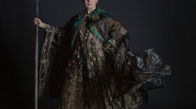 """Kate Burton plays Prospera in the gender swapped production of """"The Tempest"""" currently on stage at the Globe's Lowell Davies Festival Stage."""