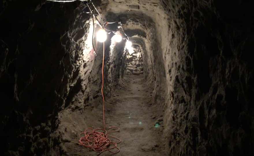 """The inside of the """"Galvez Tunnel"""" near the U.S.-Mexico border, June 12, 2017."""