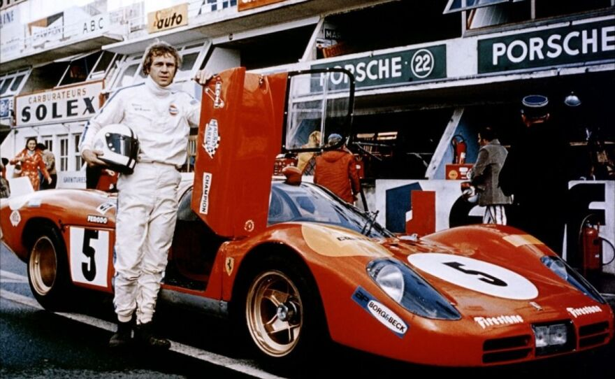 """Steve McQueen, the epitome of cool, stars as a race car driver in the 1971 film """"Le Mans"""" that is screening as part of Film Geeks SD's Gearhead Cinema series at Digital Gym Cinema."""