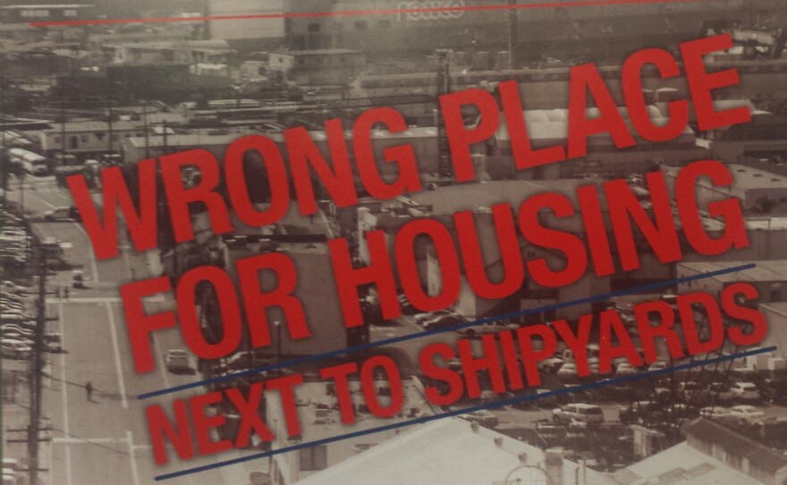 A mailer sent out urging a no vote on Propositions B and C, which would rescind the Barrio Logan community plan update.