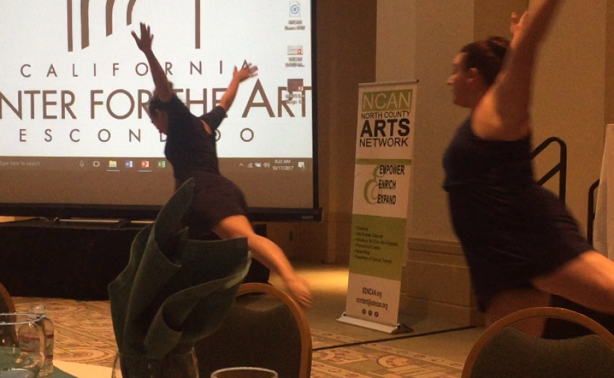Dancers perform during the Arts Economic Summit in North County, Oct 17th, 2017