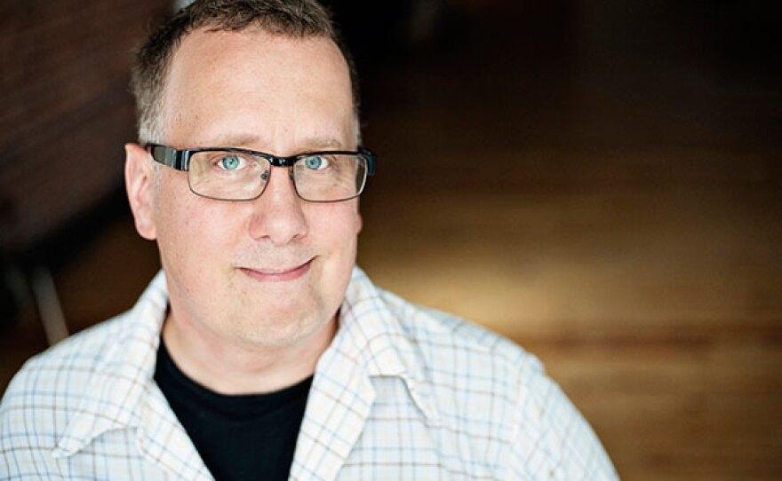 Wits host John Moe.  Wits airs Fridays at 9 p.m. and Saturdays at 8 p.m. on KPBS Radio.
