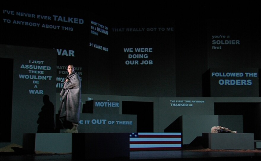 """David Adam Moore sings the solo role in """"Soldier Songs,"""" an opera that explores the experiences of the modern soldier."""