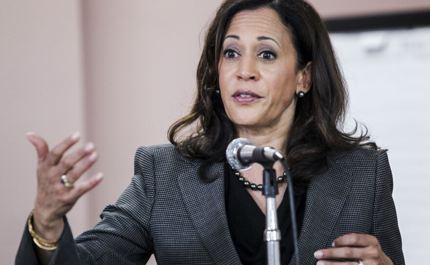 California Attorney General Kamala Harris speaks at a meet and greet at Building and Construction Trades Council in Los Angeles, Jan 10, 2016.